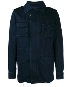 YVES SALOMON HOMME | Denim Military Jacket 44 Cotton/Rabbit