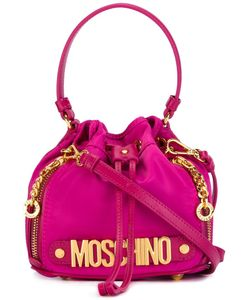Moschino | Letters Bucket Shoulder Bag Nylon 12/Leather