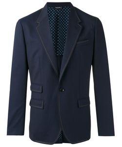 Dolce & Gabbana | Contrast Stitch Trim Blazer Size 50