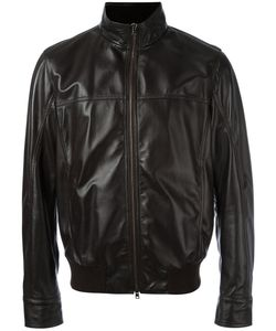 Herno | Zip Up Leather Jacket Size 52