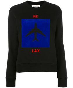 ÊTRE CÉCILE   Aeroplane Print Sweatshirt Size Medium