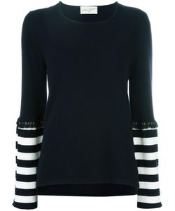 ANTONIA ZANDER | Striped Detail Jumper Medium Cashmere
