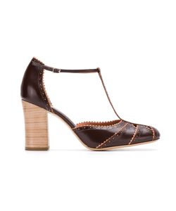 Sarah Chofakian | Leather Panelled Pumps