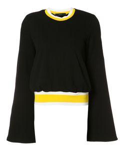 Ellery   Fla Sleeves Blouse 8 Cotton/Polyester
