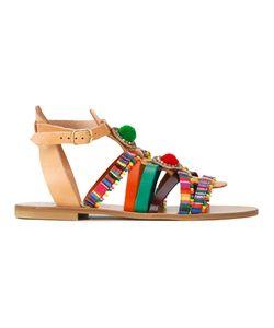 ELINA LINARDAKI | Playground Sandals 37 Cotton/Calf Leather