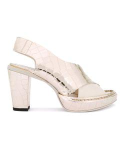 Rocco P. | Rocco P. Crocodile Effect Sandals