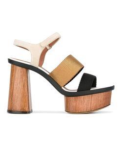 Emporio Armani | Platform Sandals 36 Suede/Viscose/Leather