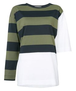 Hache | Striped Panel Sweater 40