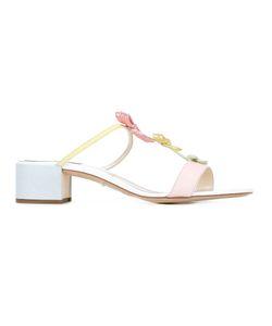 Rene' Caovilla | René Caovilla Bow Embellished Sandals 36.5 Leather/Pvc