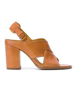 Veronique Branquinho | Crossed Strap Sandals Calf Leather/Goat