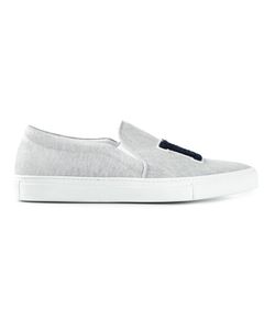 Joshua Sanders | Embossed Ny Slip-On Sneakers Size 40