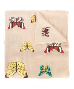 JANAVI | Beetle And Butterfly Embroidered Scarf Women