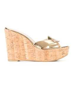 Stuart Weitzman | Wedge Sandals 35.5 Leather/Rubber