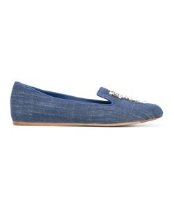 Le Silla | Embellished Denim Slippers Leather/100 Pure