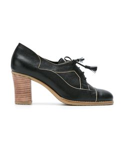 Sarah Chofakian | Panelled Lace Up Pumps Size 36 Goat