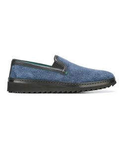 Dolce & Gabbana | Slip-On Slippers 45 Silk/Calf Leather/Viscose/Rubber