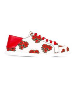 Alexander McQueen | Poppy Print Sneakers 40 Calf Leather/Canvas/Rubber