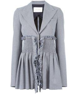 Cedric Charlier | Cédric Charlier Houndstooth Pattern Blazer 42 Cotton/Acetate/Rayon