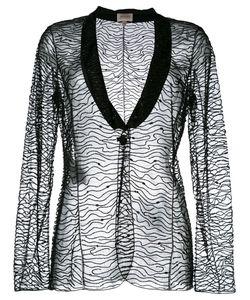 Armani Collezioni | Embellished Blazer 46 Polyamide/Polyester/Glass/Plastic
