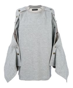 Y / PROJECT   Popper Sleeve Sweatshirt