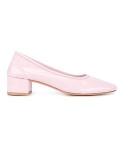 Maryam Nassir Zadeh | Roberta Patent Leather Block Heel Pumps 39.5