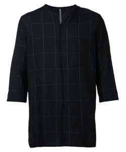 KAZUYUKI KUMAGAI | Three-Quarters Sleeve Checked T-Shirt