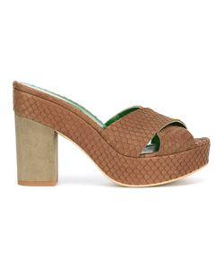 Danielapi | Embossed Platform Sandals Size 41