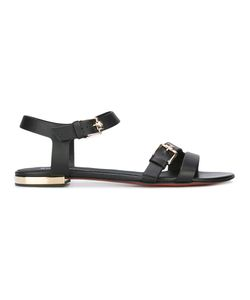 Baldinini | Detail Flat Sandals 36 Calf Leather/Leather