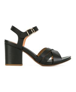 Buttero | Block Heel Sandals 37.5 Calf Leather/Leather