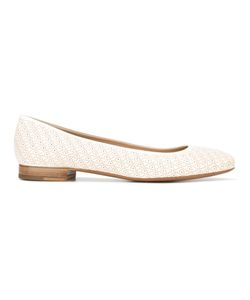Fratelli Rossetti | Laser-Cut Detailed Ballerinas 39 Leather