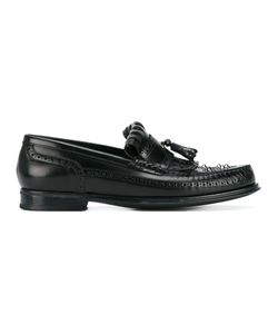 Dolce & Gabbana | Studded Fringe Loafers 43 Leather/Rubber