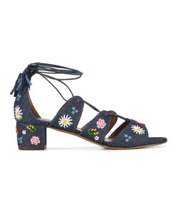 Tabitha Simmons | Embroidered Denim Sandals