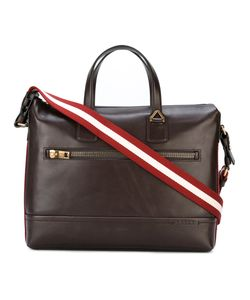 Bally | Striped Strap Laptop Bag Leather/Cotton