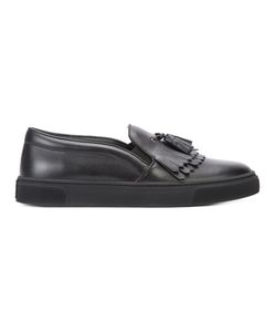 Louis Leeman | Fringed Slip-On Sneakers Calf Leather/Rubber