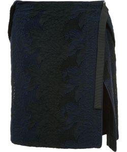Sacai | Wrap-Detail Skirt 2 Cotton/Cupro/Polyester