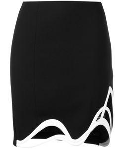Mugler | Waved Mini Skirt 36 Polyester/Acetate