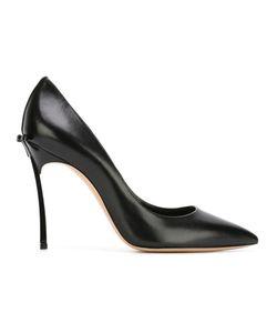 Casadei | Bow Detail Stiletto Pumps 36.5 Leather/Patent Leather