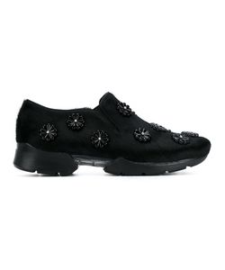 Simone Rocha | Embellished Calf Hair Sneakers 40 Leather/Rubber
