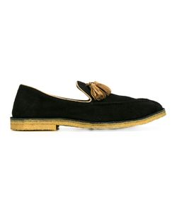 Alberto Fasciani | Fringed Trim Loafers 44 Leather/Suede/Rubber