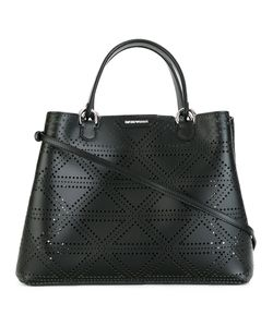 Emporio Armani | Perforated Detail Tote Bag Sheep Skin/Shearling