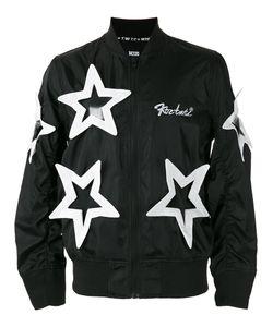 Ktz   Star Appliqué Bomber Jacket Size Xl