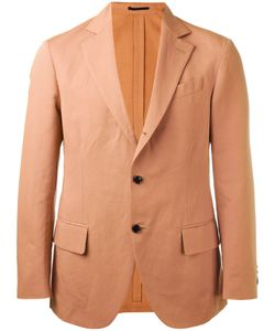 MP MASSIMO PIOMBO   Unconstructed Contrast Button Blazer Size 48