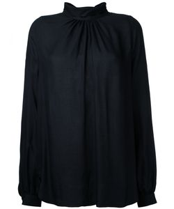 Muveil | Pinch Pleat Funnel Collar Blouse