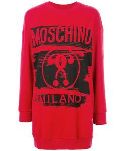 Moschino | Трикотажное Платье С Логотипом
