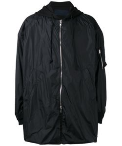 JUUN.J | Oversized Hooded Coat 50 Cotton/Nylon/Polyester/Polyurethane