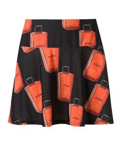 AMIR SLAMA | Printed A-Line Skirt P Elastodiene