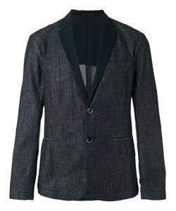 Emporio Armani | Faille-Trimmed Denim Blazer Size Xl