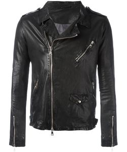 Giorgio Brato | Chest Pocket Biker Jacket 50 Leather/Cotton/Nylon