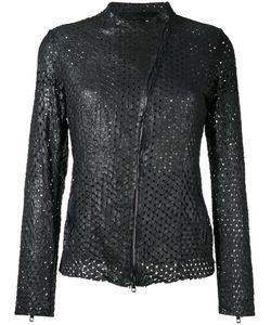 SALVATORE SANTORO   Perforated Jacket 44 Leather