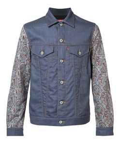 JUNYA WATANABE COMME DES GARCONS | Junya Watanabe Comme Des Garçons Printed Sleeves Denim Jacket